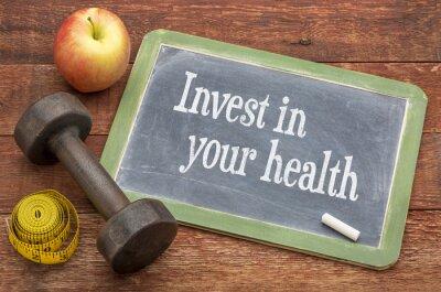 Картина Инвестируйте в вашей консультации здоровья на доске