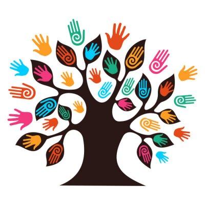 Изолированные руки разнообразие деревьев