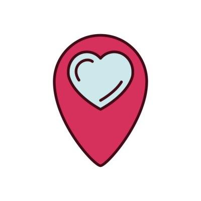 Isolated heart gps mark fill vector design
