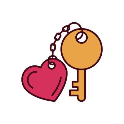 Isolated love key fill vector design