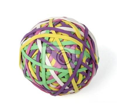 Изолированные Rubberband мяч на белом фоне
