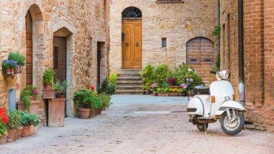 Картина Итальянские улицы в тосканской небольшой город и популярным одного-TR