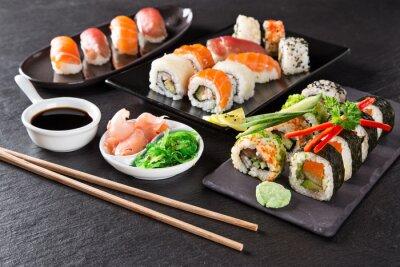 Картина Японский набор суши морепродукты