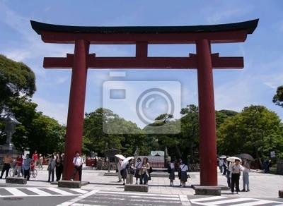японский храм красные ворота