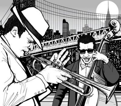 Картина джаз в Нью-Йорке
