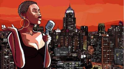 Картина джазовая певица