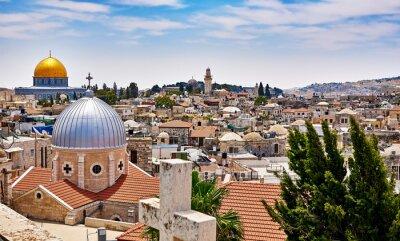 Картина Иерусалим панорамный вид крыши