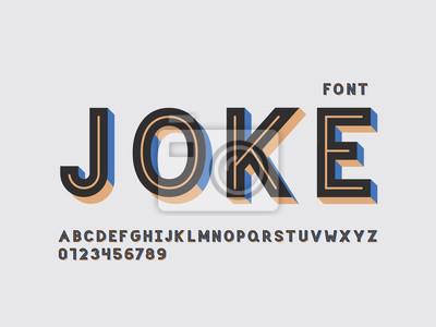 Joke font. Vector alphabet