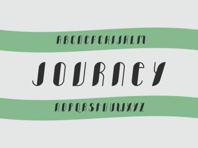 Journey cursive font Vector