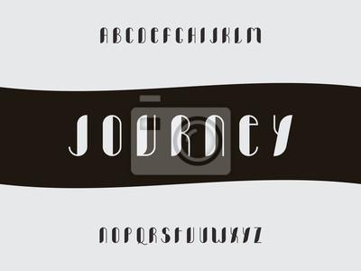 Journey fill font Vector alphabet
