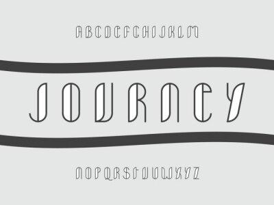 Journey font. Vector alphabet