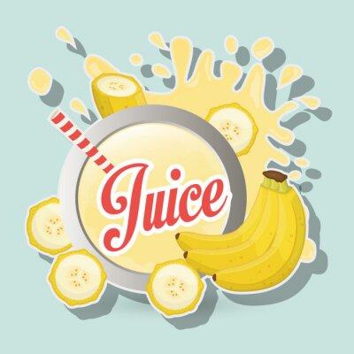 Картина дизайн иконок сок