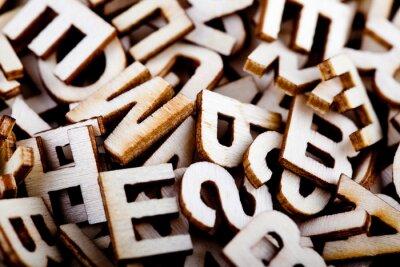 Картина Jumbled деревянные буквы закрыть
