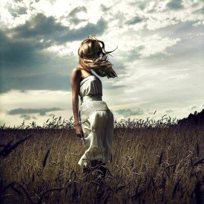 Картина Перейти женщин в пшеничном поле