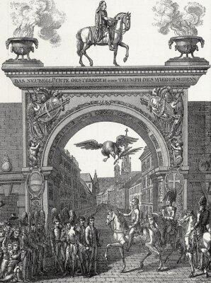 Картина Кайзер Франц I zieht в Вина Эйн им июнь 1814 Kupferstichvorlage