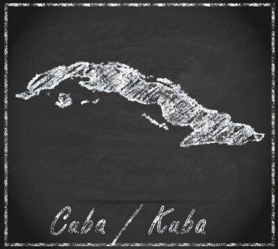 Картина Карта Кубы