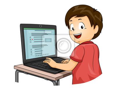 Kid Boy Компьютерная Тестовая Иллюстрация