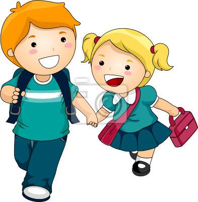 Дети ходят в школу