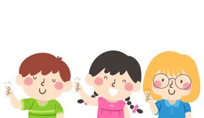 Kids Snap Your Fingers Illustration