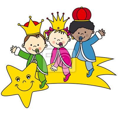 цари, сидящие на падающую звезду