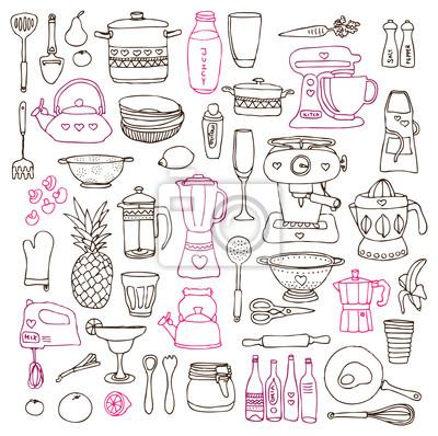 Кухня продуктовые приготовления иллюстраций рисунки в векторе