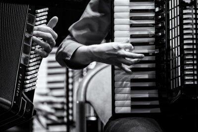 Картина Konzert Handharmonika клуб, Аккордеон оркестр, Деталь