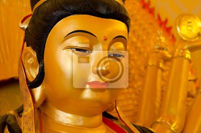 Лицо Гуань Инь статуи