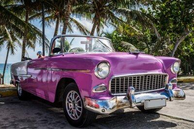 Картина Kuba Varadero Oldtimer parkt in der Nähe vom Strand