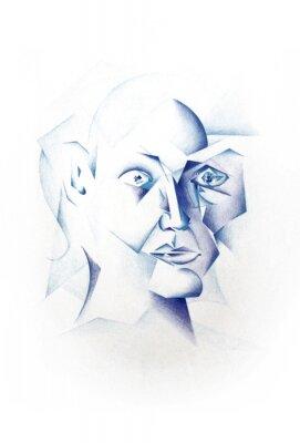 Картина Kubistisches Gesicht