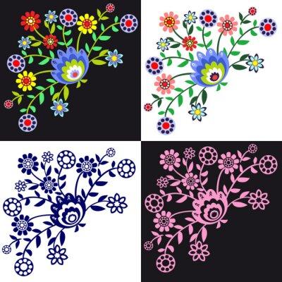 Картина kwieciste wzory ludowe