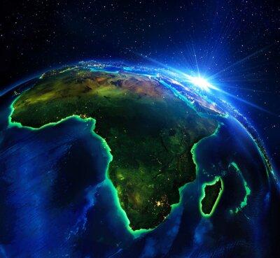 Картина земельный участок площадью в Африке, ночь