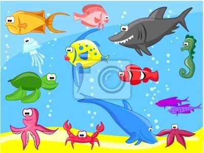 большой сет морский рыб