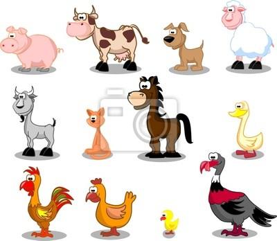 большой сет домашних животных