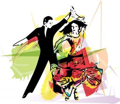 Картина Выходец из Латинской Америки Танцы пара