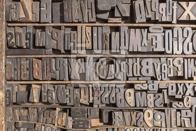 Letterpress алфавит