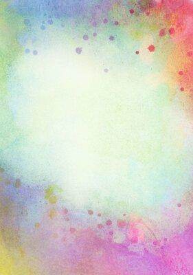Картина Свет абстрактный синий, зеленый окрашен акварель брызги фон