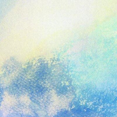 Картина Свет абстрактный синий фон окрашен акварель брызги