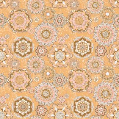 Light background with ornate decor. Seamless pattern.