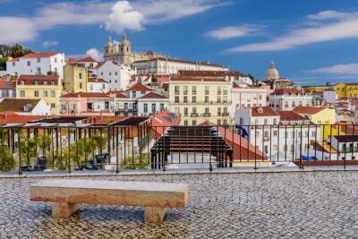 Картина Лиссабон городской пейзаж - традиционная архитектура, Alfama район, Лиссабон, Португалия.