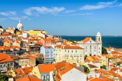 Картина Лиссабон в центре города, Португалия