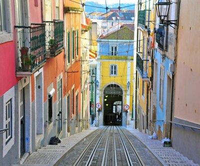 Картина Лиссабон фуникулер Бика