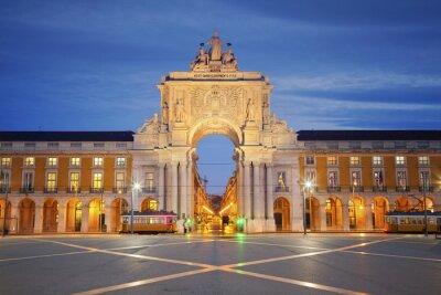 Картина Лиссабон. Изображение Триумфальная арка в Лиссабоне, Португалия.