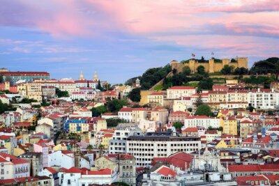 Картина Лиссабон, Португалия, вид на квартал Алфама и Санкт-Хорхе Castl