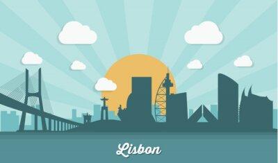 Картина Лиссабон горизонта - плоский дизайн