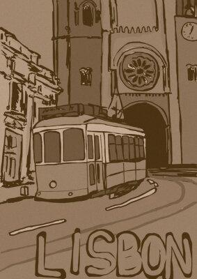 Картина Лиссабон старинные