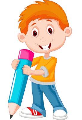 Картина Маленький мальчик с карандашом