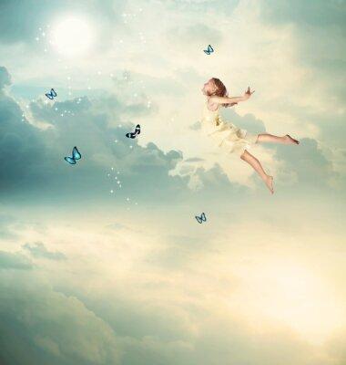 Картина Маленькая девочка Летающая в сумерках