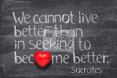 живи лучше Сократ