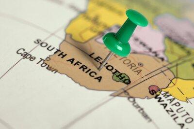 Картина Зеленый контактный на карте.