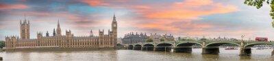 Картина Лондон в сумерках. Осень закат над Вестминстерского моста